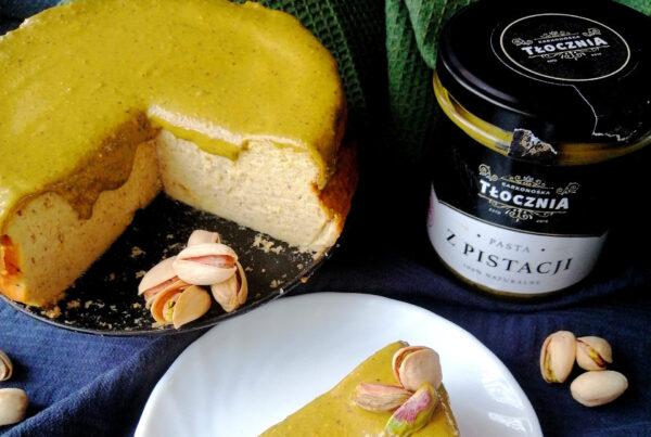 sernik pistacjowy, pasta pistacjowa